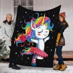 Custom Blanket Ballet Dancer Unicorn Blanket - Perfect Gift For Son - Fleece Blanket