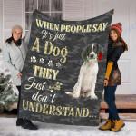 Customs Blanket English Springer Spaniel Dog Blanket - Valentines Day Gifts - Fleece Blanket