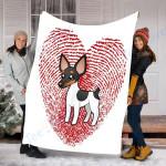Customs Blanket Rat Terrier Valentines Day Gifts Blanket - Fleece Blanket