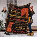 Dachshunds Custom Blanket To My Son Blanktet - Gift For Son - Fleece Blanket