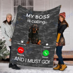 Customs Blanket Dachshund Dog Puppy Dog Blanket - Fleece Blanket