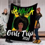 Customs Blanket Jamaica Girls Trip 2020 Blanket - Fleece Blanket