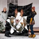 Custom Blanket Bull Terrier Dog Blanket - Fleece Blanket #70367