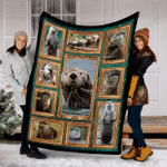 Customs Blanket 3D Otters Blanket - Fleece Blanket