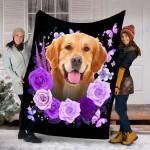 Customs Blanket Golden Retriever Dog Blanket - Valentines Day Gifts - Fleece Blanket