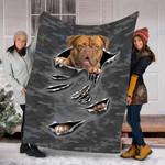 Custom Blanket Dogue De Bordeaux Dog Blanket - Fleece Blanket
