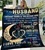 Customs Blanket TO MY HUSBAND Blanket - Perfect Gift For Husband - Fleece Blanket #95375