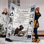 Customs Blanket TO MY HUSBAND Blanket - Perfect Gift For Husband - Fleece Blanket #66985