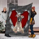 Customs Blanket Whippet Dog Blanket - Fleece Blanket #51127