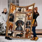 Customs Dachshund Picture 2 Dog Blanket - Fleece Blanket