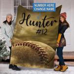Custom Blankets Baseball Personalized Blanket - Perfect Gift For Son - Fleece Blanket