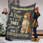 Customs Blanket Shiba Inu Dog Blanket - Valentines Day Gifts - Fleece Blanket
