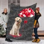 Customs Blanket Labrador Dog Blanket - Valentines Day Gifts For Her - Fleece Blanket