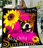 Custom Blanket Basenji My Sunshine Blanket - Fleece Blanket