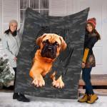 Customs Blanket Bullmastif Inside Me Dog Blanket - Fleece Blanket