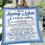 DAUGHTER TO MOM 6 - Fleece Blanket