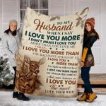 Reindeer Custom Blanket To My Husband Blanket - Perfect Gift For Husband - Fleece Blanket