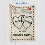 Custom Blankets Letter Mr And Mrs Personalized Blanket With Name And Wedding Year