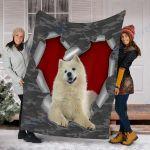 Customs Blanket Samoyed Dog Blanket - Fleece Blanket