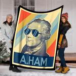 Customs Blanket Hamilton Wearing Sunglasses Blanket - Fleece Blanket