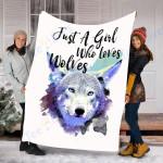 Custom Blanket Wolf Blanket - Perfect Gift For Girl - Fleece Blanket #47163