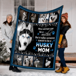 Customs But it takes someone special to be a Husky Mom Dog Blanket - Fleece Blanket