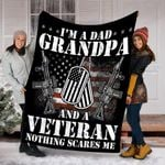 Custom Blanket Veteran Blanket - Gift For Father's Day - Fleece Blanket