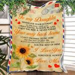 Custom Blanket Letter To My Daughter Blanket - Gift For Daughter #54016