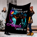 Customs Blanket Miniature Pinscher Angels Among Us Classic Dog Blanket - Fleece Blanket