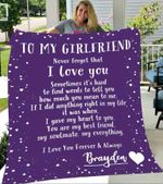 Custom Blankets To My Girlfriend Personalized Blanket with Your Name - Fleece Blanket #97191