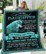 Custom Blanket Wolf To My Daughter Blanket - Gift For Daughter - Quilt Blanket #58475