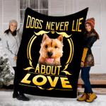 Customs Blanket Norwich Terrier Never Lie Dog Blanket - Fleece Blanket
