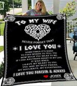 Custom Blankets To My Wife Personalized Blanket - Perfect Gift For Wife 1 - Fleece Blanket