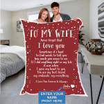 Custom Blankets Personalized Blanket - Perfect gift for Wife - Sherpa Blanket #35814