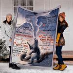 Customs Blanket TO MY HUSBAND Blanket - Perfect Gift For Husband - Fleece Blanket #42803