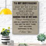 To My Boyfriend Canvas Print Wall Art - Matte Canvas