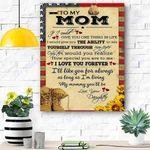 To My Mom Soldier Canvas Print Wall Art - Gift For Mom - Matte Canvas