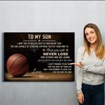 Basketball Canvas Prints Wall Art - Perfect Gift For Son - Matte Canvas