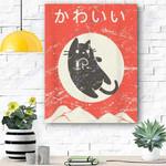 "Japanese Cat ""Kawaii"" Anime Canvas Prints Wall Art - Matte Canvas"