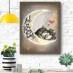 Wolf Canvas Prints Wall Art - I Love You To The Moon - Matte Canvas
