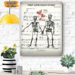 They Love Each Other Canvas Prints Wall Art - Matte Canvas