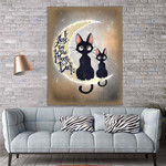To My Daughter Cat Canvas Print Wall Art - Gift For Daughter - Matte Canvas
