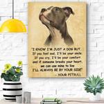 Pitbull Dog Canvas Prints Wall Art - Matte Canvas #95698