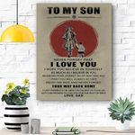 To My Son Canvas Prints Wall Art - Perfect Gift For Son - Matte Canvas