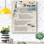 To My Son Canvas Print Wall Art - Gift For Son - Matte Canvas #77929