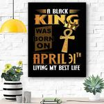April 31th Living My Best Life Canvas Print Wall Art - Matte Canvas