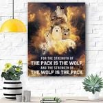 Pack Is The Wolf Canvas Prints Wall Art - Matte Canvas