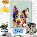 Custom Canvas Personalized Dog Canvas Print Wall Art - Matte Canvas