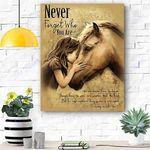 Horse Never Forget Canvas Print Wall Art - Matte Canvas