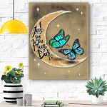 To My Daughter Butterfly Canvas Print Wall Art - Gift For Daughter - Matte Canvas